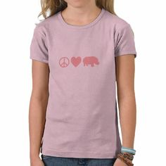 Peace Love and Hippos Tee Shirt