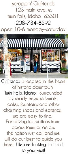 cutest little scrapbook store EVER ... scrappin' Girlfriends