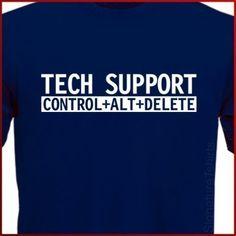 Geek tshirt TECH SUPPORT Computer Geek programmer mens tshirt nerd womens Christmas gift for dad T-Shirt tshirt shirt husband boyfriend on Etsy, $10.95