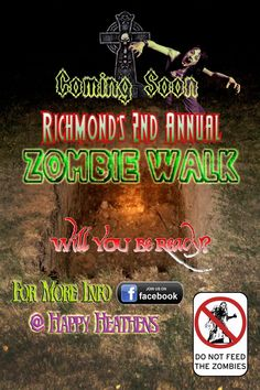 Zombie Walk in Richmond, Indiana this October, 2012!