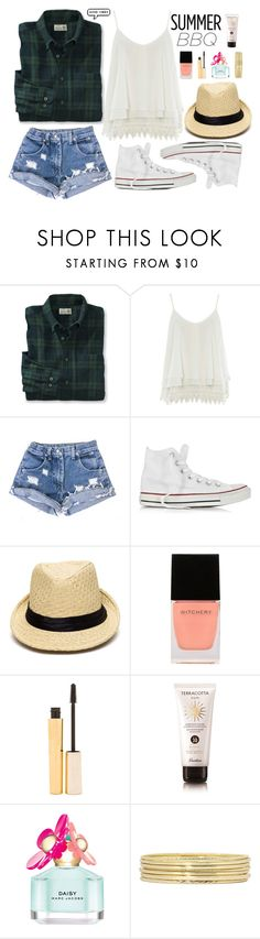 """Summer barbeque"" by supersquirrelgirlq ❤ liked on Polyvore featuring Alice & You, Converse, Witchery, Stila, Guerlain, Marc Jacobs and Liz Claiborne"