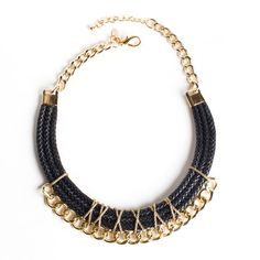 Knotty Gal: California Love Necklace Black, at 12% off!