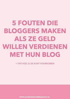 Geld verdienen met bloggen is echt niet moeilijk, maar er zijn wel een aantal valkuilen. Probeer deze veelgemaakte fouten te vermijden en je zult zien dat het geld zal binnenstromen.