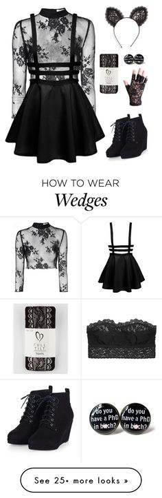 """Lace"" by cora-mccutcheon on Polyvore featuring Hanky Panky, Glamorous, Cara…"