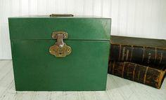 Vintage Hammered Metal Aqua Green OverSized File by DivineOrders, $32.00