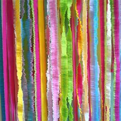 Ruffled Streamer Backdrop - Photography Photo Booth Backdrop - Birthday Holiday Mitzvah Wedding Party Decor. $46.50, via Etsy.