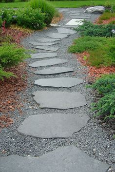 A path with stones Stone Patio Designs, Outdoor Fireplace Designs, Garden Stones, Garden Paths, Garden Landscaping, Stepping Stone Walkways, Outside Fireplace, Terraced Backyard, Country Cottage Garden