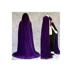 Purple Velvet Cloak Lined in Black Satin ($60) ❤ liked on Polyvore