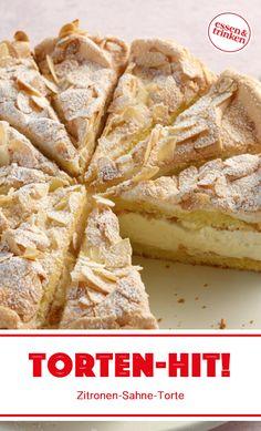 Recipe for lemon cream cake - Baking Recipes Quick Dessert Recipes, Easy Cake Recipes, Baking Recipes, Baking Muffins, Baking Cupcakes, Food Cakes, Cakes Originales, Lemon Cream Cake, Baking For Beginners