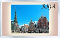 Acrylic Fridge Magnet: Latvia. Riga. St. Peters Church. The House of the Blackheads