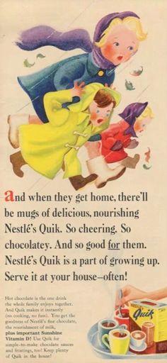 Nestle's Quick 1959 advertisement