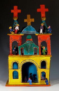 """""""Church"""" attr: Candelario Medrano Sta Cruz de la Huerta, Mexico"""