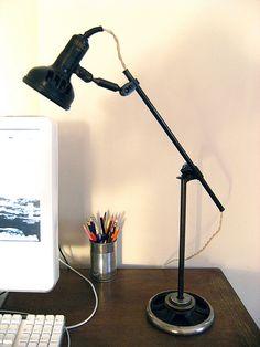 vintage singer desk lamp by Three Red Apples, via Flickr