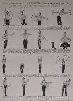 1930s Vintage Print Of Exercise Techniques  by PrimrosePrints, £10.00
