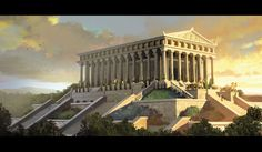 The Temple of Artemis or Artemision, also known less precisely as the Temple of Diana, was a Greek temple dedicated to the goddess Artemis and is one of the Seven Wonders of the Ancient World.