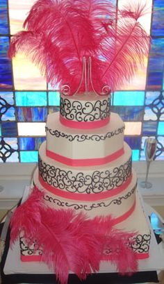 Feather meets Cake....I think we need to pluck this cake's feathers.