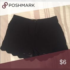 Black dress shorts Black peplum shaped bottom shorts. Polyester material, high wasted. Only worn once. Shorts