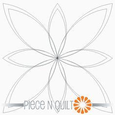 Double Star Flower Machine Quilting Pattern - Digital