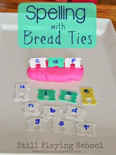 Building Word Families with Bread Ties from Still Playing School