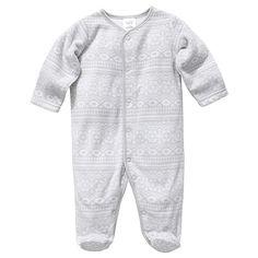 Fleece Printed Coverall - Grey/White