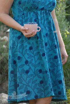 Sommerkleid Blaubeeren Blueberries, Organic Cotton, Skirts, Design, Fashion, Princess, Colors, Curve Dresses, Blueberry