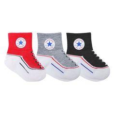 Converse Kids Toddler Socks Black - 3 Pack
