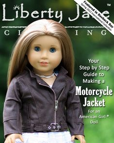 Liberty Jane Motorcycle Jacket  Doll Clothes Pattern for 18 inch American Girl Dolls - PDF