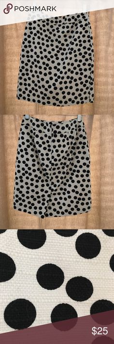 Ann Taylor Polka Dot Pencil Skirt Like new Ann Taylor textured polka dot pencil skirt. Ann Taylor Skirts Pencil