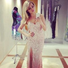 And the dress in the back is pretty to