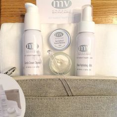 MV Skincare Travel Essentials Kit for Normal and Sensitive Skin comes with a really beautiful makeup bag, Gentle Cream Cleanser, Rose Hydrating Mist, Rose Soothing & Protective Moisturizer and a Muslin Cleansing Cloth. The perfect starter kit and traveling companion for normal, dry, dehydrated, mature and sensitive skins. #greenbeauty #thedetoxmarket pic via @musingsofkathleen
