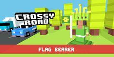 Just unlocked Flag Bearer! #crossyroad