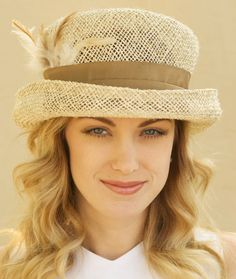 One Of A Kind Open Weave Straw Hat Neutral Earth by AwardDesign, $74.00