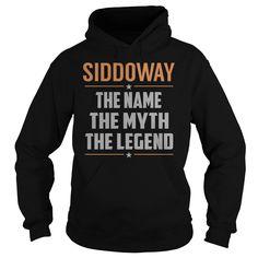 SIDDOWAY The Myth, Legend - Last Name, Surname T-Shirt