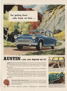 The AUSTIN CAMBRIDGE (1955 Advertisement) | eBay