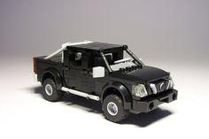 Nissan Navara by Karwik Nissan Navara, Camionnette Chevy C10, Lego Police Car, Lego Truck, Lego Pictures, Lego Speed Champions, Lego Builder, Lego Construction, Lego Modular