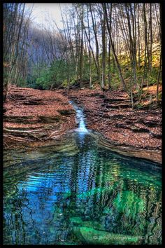 Devil's Bathtub trail- trail head is right outside of Gate City Virginia, it's probably 2 miles into the falls. It is a strenuous hike a long river beds, with an unmarked trail. However, it's worth it especially in the fall. Don't get caught in there during a heavy rain though, you will get trapped.