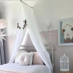 2019 New Chiffon Breathable Canopy in 5 Colors – TYChome Bed Net Canopy, Bed Canopy With Lights, Girls Canopy, Kids Bed Canopy, Baby Canopy, Girls Bedroom, Bedroom Decor, Playroom Decor, Little Girl Canopy Bed