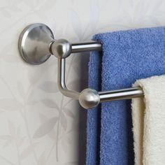 "24"" Ballard Collection Double Towel Bar - Brushed Nickel"