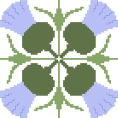 Plump thistle cross stitch tile. Modern by crossstitchtheline A beautiful cross stitch tile that looks perfect on its own and gains a new dimensions when embroidered in sets.