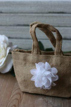 kraftedheart  rustic wedding accents- etsy   flower girl bag
