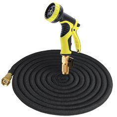 Tespressolife 50ft Expandable Multi-purpose Garden Hose with connector and 9 patterns spray nozzle