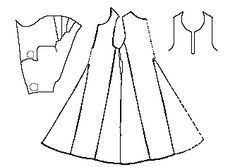 Some Clothing of the Middle Ages -- Kyrtles/Cotes/Tunics/Gowns -- Herjolfsnes 43 This garment is assumed to have been a man's because it was found with a hood, the length of the overall outfit is not very long compared to the sleeve length, and the skirt is not very full compared to the body.