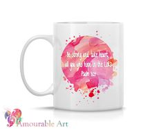 This professional quality Amourable Art coffee mug features a one of a kind Amourable Art design, printed on both sides of the mug - so everyone can