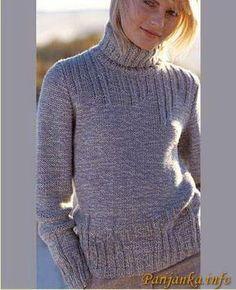 Пуловер с высоким воротником (ж) 123*Creation 05/06 BDF №1788