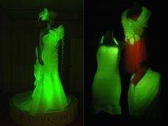 Silkworms have been genetically mutated to create three colors of fluorescent silk fiber that will react to blacklight for about 2 years. Researcher Toshiki Tamura is a molecular biologist at the National Institute of Agrobiological Sciences. Wired Science. (june 2013)