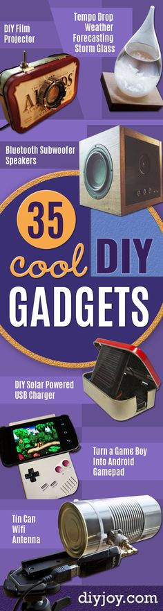 35 Cool DIY Gadgets You Can Make To Impress Your Friends DIY gadgets and cool projects to make to impress friends (or yourself) Easy electronics, tech toys and fun lights, toys, arduino gadget ideas with tutorial. Electronics Projects, Diy Electronics, Usb Gadgets, Cool Gadgets, Cheap Gadgets, Amazing Gadgets, Diy Hacks, Cool Diy, Tech Gifts For Men