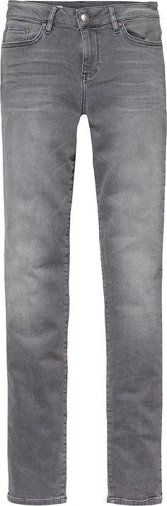 Klassische 5-Pocket-Jeans von Tommy Hilfiger in hellgrauer Waschung und mit einer niedrigen Leibhöhe.98% Baumwolle, 2% Elastan...