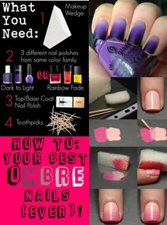 """""""Beauty Tips Contest: How To: Your Best Ombre Nails (Ever)!"""" by averyculp ❤ liked on Polyvore"""