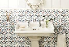 The Winchester Tile Company - Artisan - Topkapi (portrait) from The Winchester Tile Company Bathroom Layout, Bathroom Interior, Bathroom Ideas, All White Bathroom, Stone Supplier, Decorative Tile, Traditional Bathroom, Glazed Ceramic, Tile Patterns