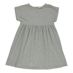 Fein gestreiftes Kleid Indigoblau Babe & Tess - Kindermode - Smallable